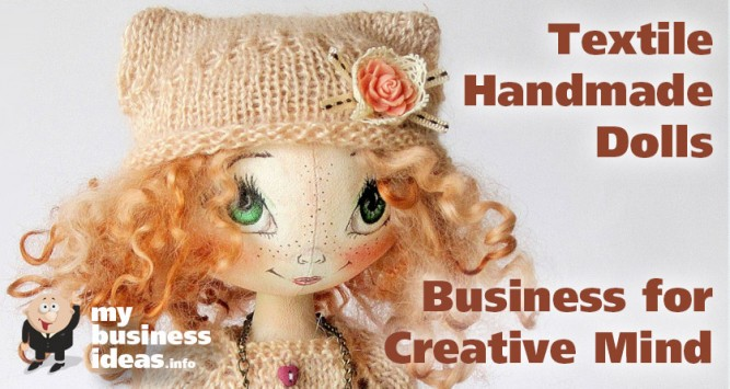 Textile handmade dolls business